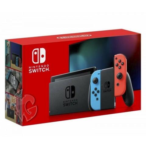 Nintendo Switch V2 Neon Blue Red