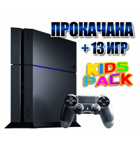 PlayStation 4 БУ FAT 500 Gb + 13 игр (#105)