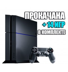PlayStation 4 FAT 1TB Б/У + 14 игр #262