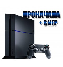 PlayStation 4 БУ FAT 500 Gb + 8 игр (#107)
