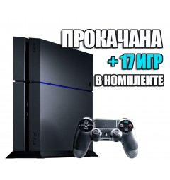 PlayStation 4 FAT 1TB Б/У + 17 игр #332