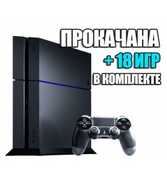 PlayStation 4 FAT 1TB Б/У + 18 игр #326