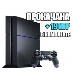 PlayStation 4 FAT 1TB (Б/У) + 19 игр #221