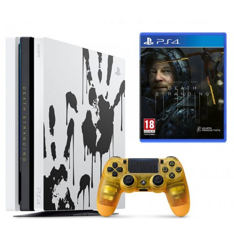 PlayStation 4 Pro 1TB Death Stranding Limited Edition + Игра Death Stranding (Русская озвучка)