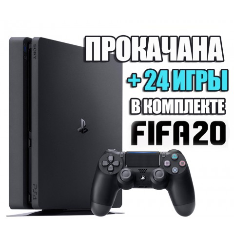 PlayStation 4 SLIM 1 TB + 24 игр #223
