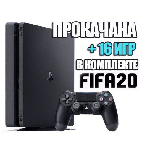 PlayStation 4 SLIM 1 TB + 16 игр #209