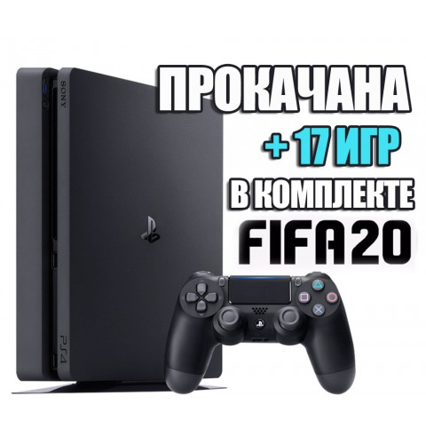 PlayStation 4 SLIM 1 TB + 17 игр #208
