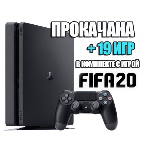 PlayStation 4 SLIM 1 TB + 19 игр #202