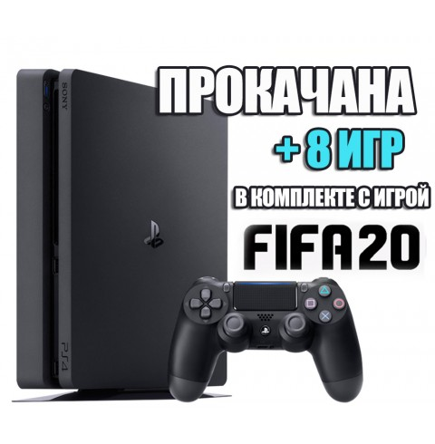 PlayStation 4 SLIM 500 Gb + 8 игр #295