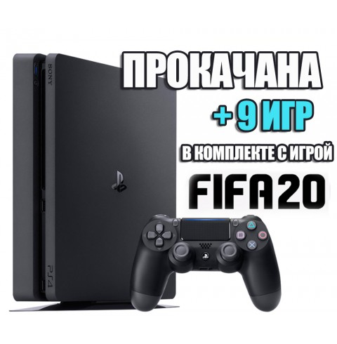 PlayStation 4 SLIM 500 Gb + 9 игр #307