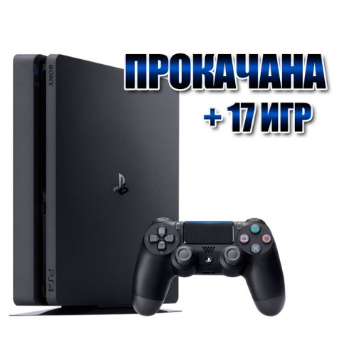 PlayStation 4 SLIM 1 TB + 17 игр (#155)