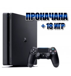 PlayStation 4 SLIM 1 TB +  18 игр  (#129)