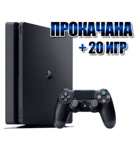PlayStation 4 SLIM 1 TB +  20игр  (#182)