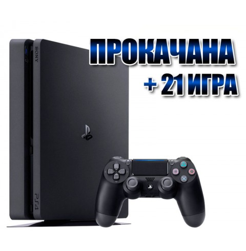 PlayStation 4 SLIM 1 TB +  21 игрa (#124)