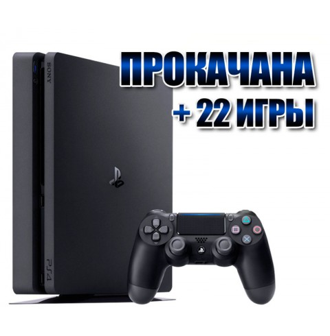 PlayStation 4 SLIM 1 TB +  22 игр  (#134)