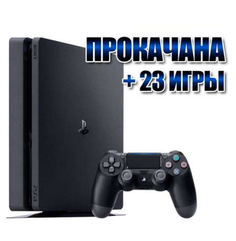 PlayStation 4 SLIM 1 TB +  23 игр (#120)