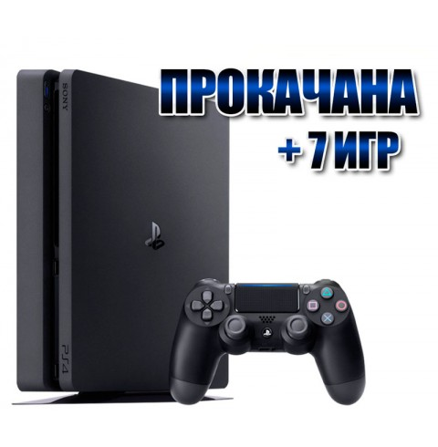 PlayStation 4 SLIM 500 Gb + 7 игр (#100)