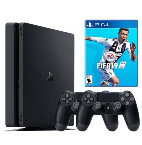 PlayStation 4 Slim 1 Tb + диск Fifa 19 + Dualshock 4 V2 НЕТ В НАЛИЧИИ