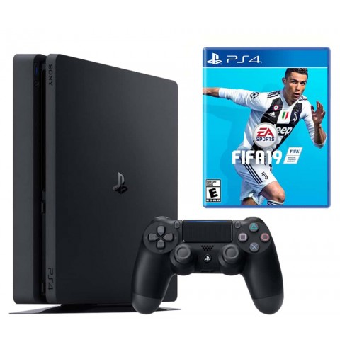 PlayStation 4 Slim 500 Gb + диск Fifa 19
