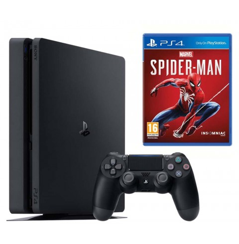 PlayStation 4 Slim 500 GB + диск Marvels Spiderman НЕТ В НАЛИЧИИ