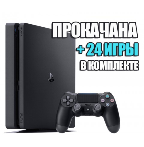 PlayStation 4 SLIM 1 TB + 24 игр #237