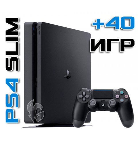 PlayStation 4 SLIM 1 TB + 40 игр