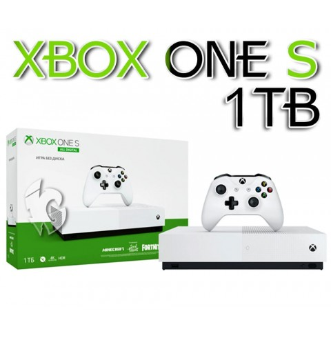 Xbox One S 1TB All-Digital Edition + 400 игр