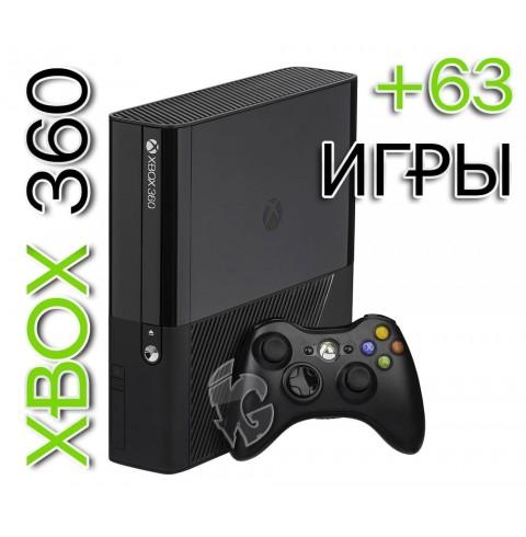 XBOX 360E 500GB (Freeboot) + 63Игры