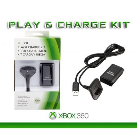 Зарядное устройство Xbox 360 Play & Charge kit + аккумулятор