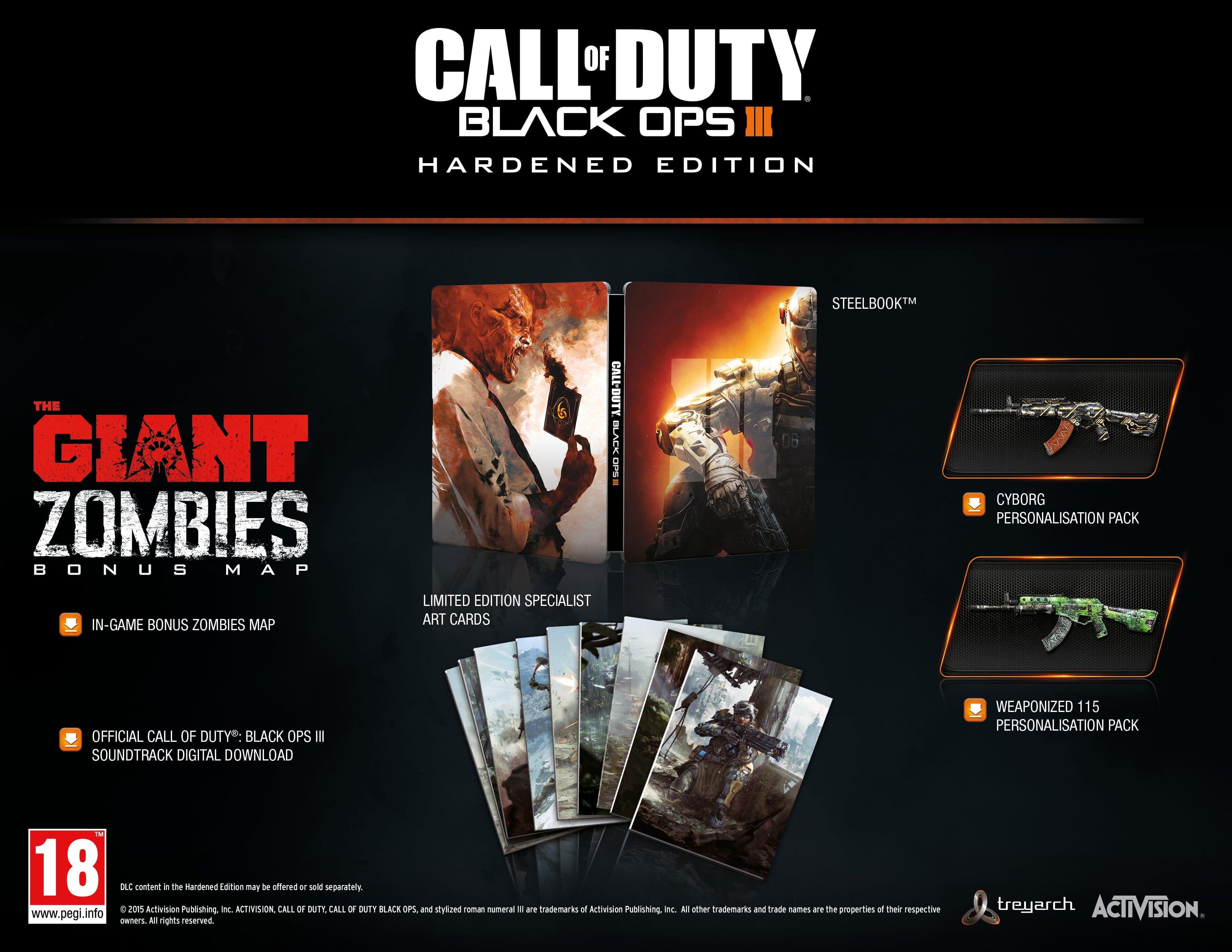 Игра Call of Duty: Black Ops 3 HARDENED EDITION RU