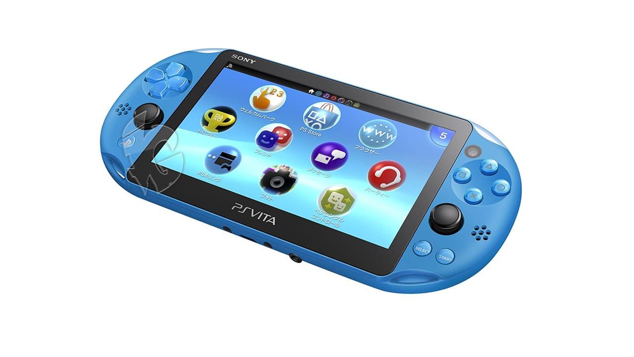 PS Vita Slim Blue Front View