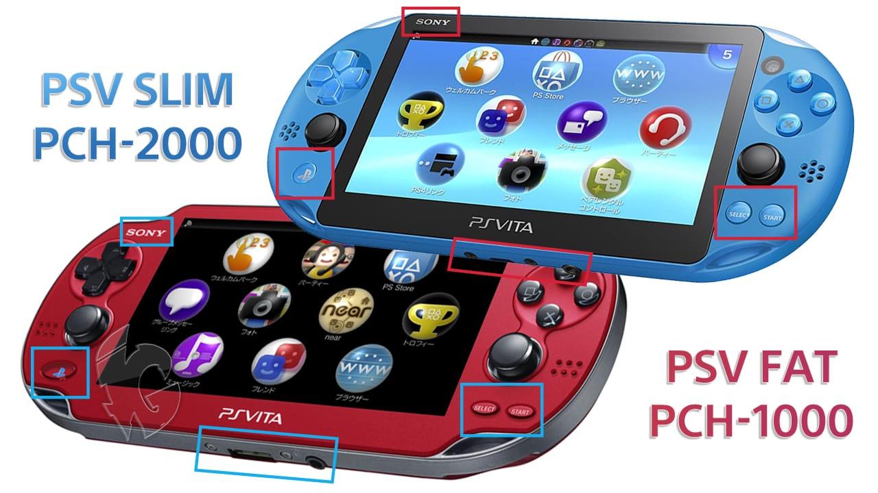 PS Vita Slim vs Fat Back View