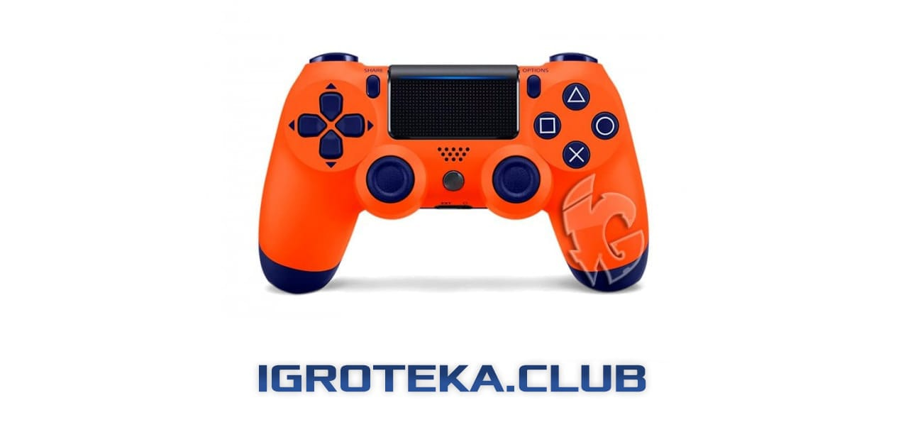 геймпад DualShock4 V2 в цвете Sunset Orange