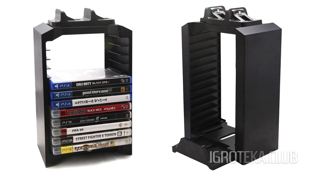 PS4 Tower Case Dual Charger